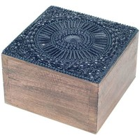 Domov Košíky, škatule Signes Grimalt Štvorcová Krabička Na Šperky Negro