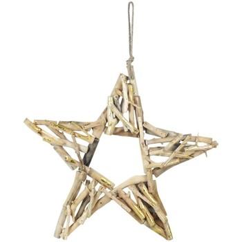 Domov Vianočné dekorácie Signes Grimalt Hviezda S Drevom Dorado