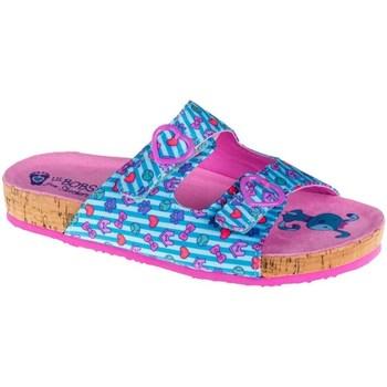 Topánky Deti Šľapky Skechers Granola Modrá, Ružová