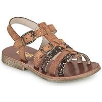 Topánky Dievčatá Sandále GBB BANGKOK Hnedá