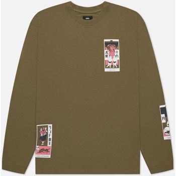 Oblečenie Muži Tričká a polokošele Edwin T-shirt manches longues  Tarot Deck II vert olive