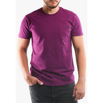Oblečenie Muži Tričká a polokošele Edwin T-shirt avec poche violet