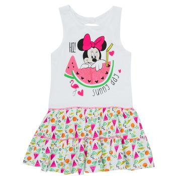 Oblečenie Dievčatá Krátke šaty TEAM HEROES  MINNIE DRESS Biela