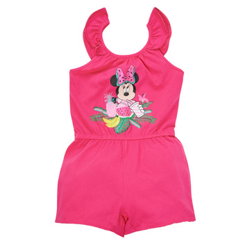 Oblečenie Dievčatá Módne overaly TEAM HEROES  MINNIE JUMPSUIT Ružová