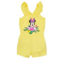 Oblečenie Dievčatá Módne overaly TEAM HEROES  MINNIE JUMPSUIT Žltá