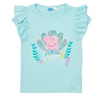 Oblečenie Dievčatá Tričká s krátkym rukávom TEAM HEROES  PEPPA PIG TEE Modrá