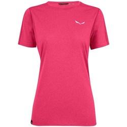 Oblečenie Ženy Tričká s krátkym rukávom Salewa Pedroc 3 Dry W Ružová
