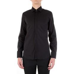 Oblečenie Muži Košele s dlhým rukávom Manuel Ritz 3030E651-213229 Nero