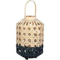 Domov Stolové lampy Signes Grimalt Malá Prírodná Bambusová Lampa Negro