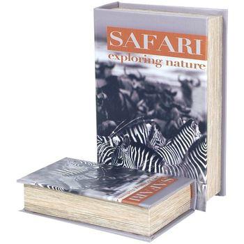Domov Truhlice Signes Grimalt Krabice Na Knihy Safari Zebra 2U Multicolor