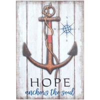Domov Obrazy, plátna Signes Grimalt Tabuľka Anchor Hope Wall Multicolor