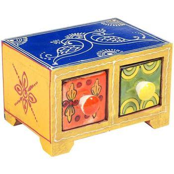 Domov Truhlice Signes Grimalt Spice Rack 2 Zásuvky Multicolor