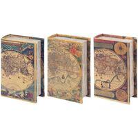 Domov Truhlice Signes Grimalt Kniha 3 Dif Krabice. World Multicolor