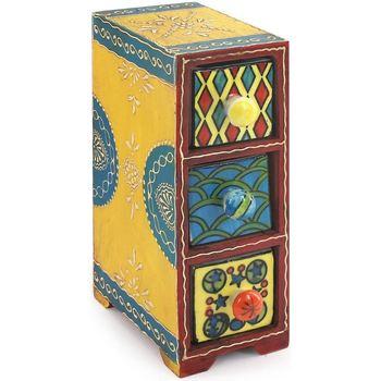 Domov Truhlice Signes Grimalt Spice Rack 3 Zásuvky Multicolor