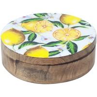 Domov Truhlice Signes Grimalt Citróny Round Box Multicolor