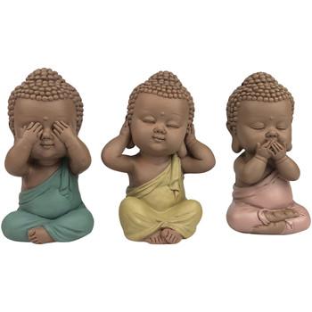 Domov Sochy Signes Grimalt Linda Buddha Set 3 Jednotiek Multicolor