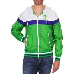 Oblečenie Muži Bundy  Franklin & Marshall MELBOURNE Zelená / Biela / Modrá