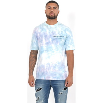 Oblečenie Muži Polokošele s dlhým rukávom Sixth June T-shirt  Custom Tie Dye noir