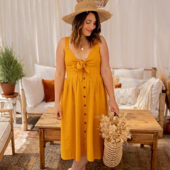 Oblečenie Ženy Dlhé šaty Céleste CAMOMILLE Žltá