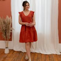 Oblečenie Ženy Krátke šaty Céleste DAHLIA Terakotová