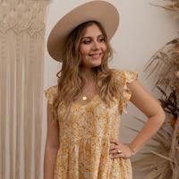 Oblečenie Ženy Krátke šaty Céleste DAHLIA Žltá / Biela