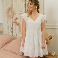Oblečenie Ženy Krátke šaty Céleste DAHLIA Biela