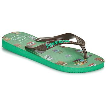 Topánky Chlapci Žabky Havaianas KIDS MINECRAFT Zelená