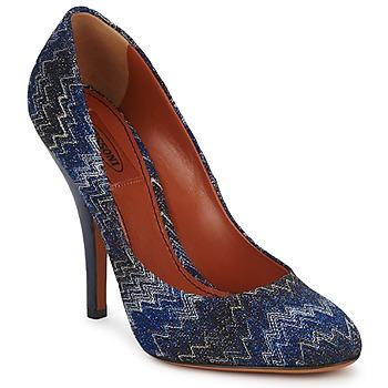 Topánky Ženy Lodičky Missoni VM005 Modrá