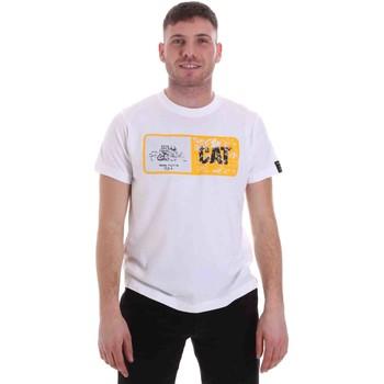 Oblečenie Muži Tričká s krátkym rukávom Caterpillar 35CC302 Biely
