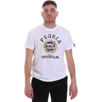 Oblečenie Muži Tričká s krátkym rukávom Caterpillar 35CC301 Biely