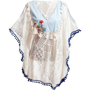 Oblečenie Ženy Plážové šatky a parea Isla Bonita By Sigris Pláštenka Blanco