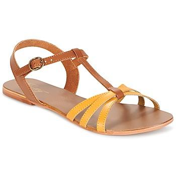 Topánky Ženy Sandále Betty London IXADOL žltá / ťavia hnedá