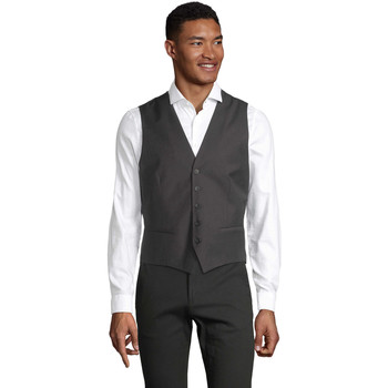Oblečenie Muži Spoločenské vesty k oblekom Sols MAX MEN Gris antracita mezcla