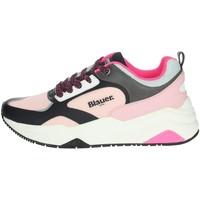 Topánky Ženy Nízke tenisky Blauer TAYLOR01 Black/ Pink