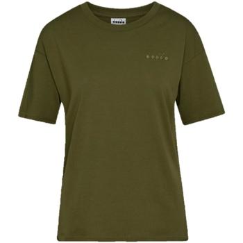 Oblečenie Ženy Tričká s krátkym rukávom Diadora Chromia Oc Zelená