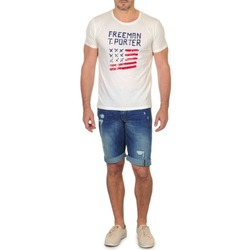 Oblečenie Muži Šortky a bermudy Freeman T.Porter DADECI SHORT DENIM Modrá