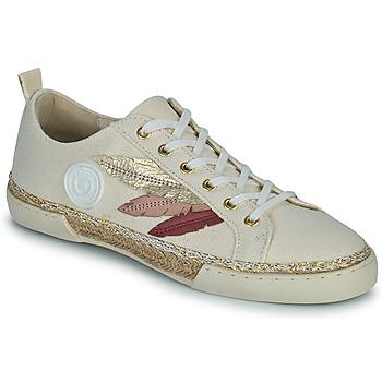 Topánky Ženy Členkové tenisky Pataugas AUTHENTIQUE/T J2E Béžová / Zlatá / Ružová