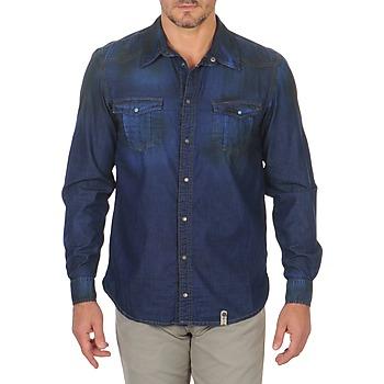 Oblečenie Muži Košele s dlhým rukávom Freeman T.Porter CORWEND DENIM Modrá