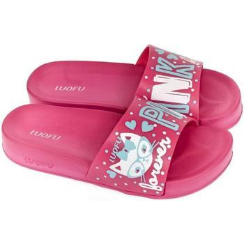 Topánky Ženy športové šľapky Wink Dámske tmavo-ružové šľapky PARRI ružová
