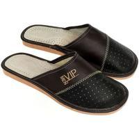 Topánky Muži Papuče John-C Pánske čierno-hnedé papuče VIPMEN čierna