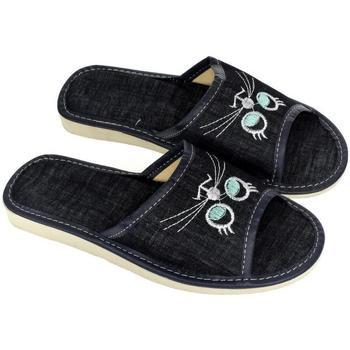 Topánky Ženy Papuče John-C Dámske tmavo-modré papuče CATTY tmavomodrá
