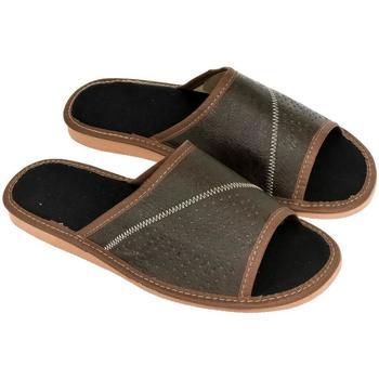 Topánky Muži Papuče John-C Pánske hnedé papuče VIGO hnedá
