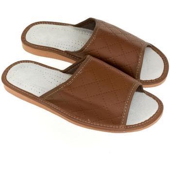 Topánky Muži Papuče John-C Pánske hnedé papuče RAY hnedá