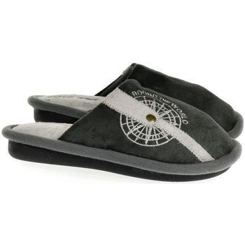 Topánky Deti Papuče John-C Detské sivé papuče S.GEAR ROUND THE WORLD sivá