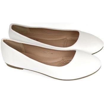 Topánky Ženy Balerínky a babies Comer Dámske biele baleríny LUSINE biela