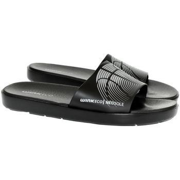 Topánky Muži športové šľapky Wink Pánske čierne šľapky  SAMERS čierna