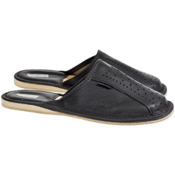 Topánky Muži Papuče Just Mazzoni Pánske luxusné kožené tmavo-sivé papuče GIVELLI tmavosivá