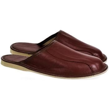 Topánky Muži Nazuvky Actonic Pánske luxusné kožené hnedé papuče OTO hnedá