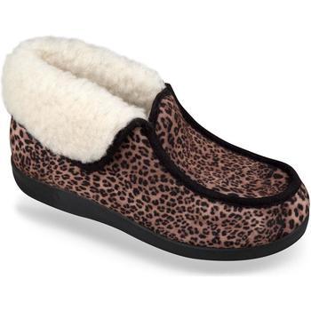 Topánky Ženy Papuče Mjartan Dámske hnedé papuče  LENKA hnedá