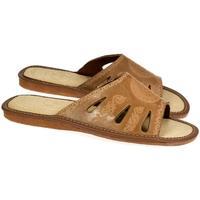 Topánky Ženy Šľapky John-C Dámske hnedé papuče OLINA ťavia